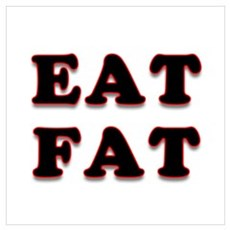 Eat Fat Canvas Art