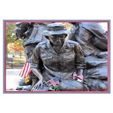 Vietnam Womens Memorial 3 Framed Print