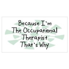 Because Occupational Therapist Framed Print