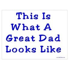 Great Dad Looks Like This Framed Print