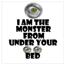 Bed monster Poster
