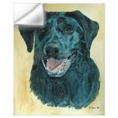 Dakota the Black Labradore Retriever Wall Decal