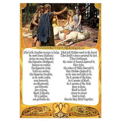 Odinn Heals Baldr's Horse Poster