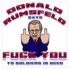 """Rumsfeld's Soldier Message"" Poster"