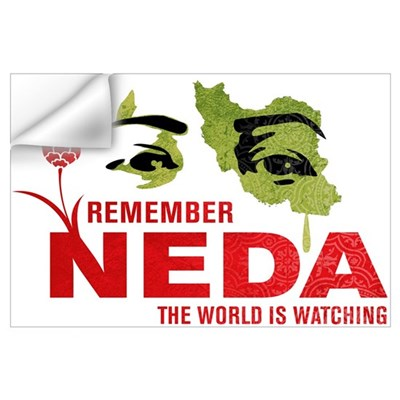Remember Neda Wall Decal