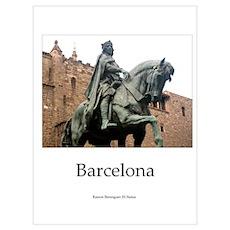 Statue of Catalan King Ramon Berenguer III Poster