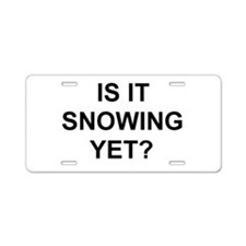 Cute Skiing Aluminum License Plate