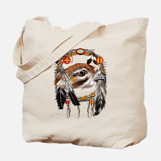 Hawk Face Dream Catcher Tote Bag