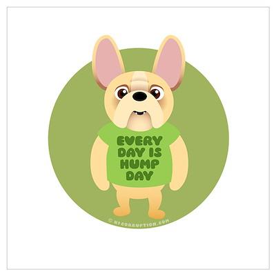 HUMP DAY Fr. Bulldog Poster