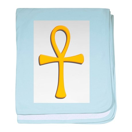 Golden Ankh baby blanket