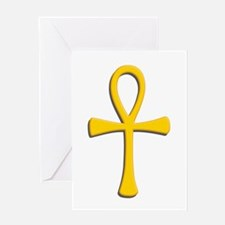 Golden Ankh Greeting Card