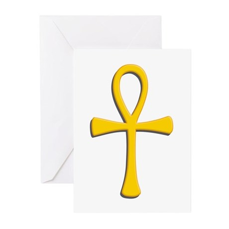 Golden Ankh Greeting Cards (Pk of 10)