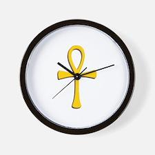 Golden Ankh Wall Clock