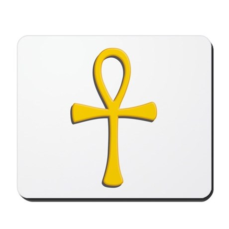 Golden Ankh Mousepad