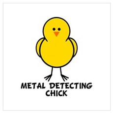 Metal Detecting Chick Poster