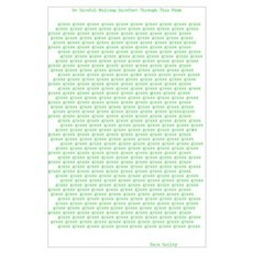 Concrete Poetry, Grass Poem Poster
