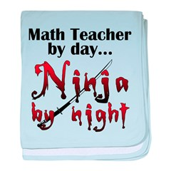 Math Teacher Ninja baby blanket