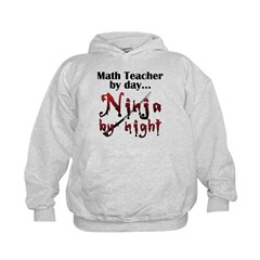 Math Teacher Ninja Hoodie