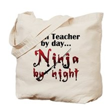 Math Teacher Ninja Tote Bag