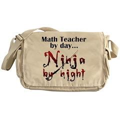Math Teacher Ninja Messenger Bag