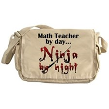 Math Teacher Ninja Messenger Bag