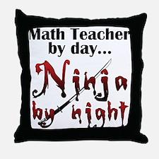 Math Teacher Ninja Throw Pillow