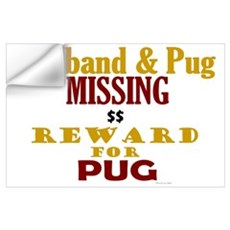 Husband & Pug Missing Wall Decal