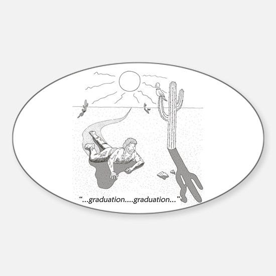 Survival: Graduation Sticker (Oval)