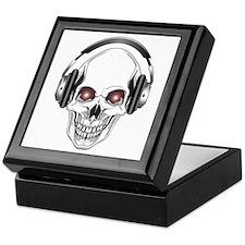 Red Eye DJ Skull Keepsake Box