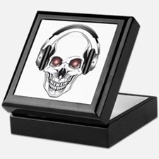 Red Eye DJ Skull Keepsake Box