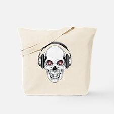 Red Eye DJ Skull Tote Bag