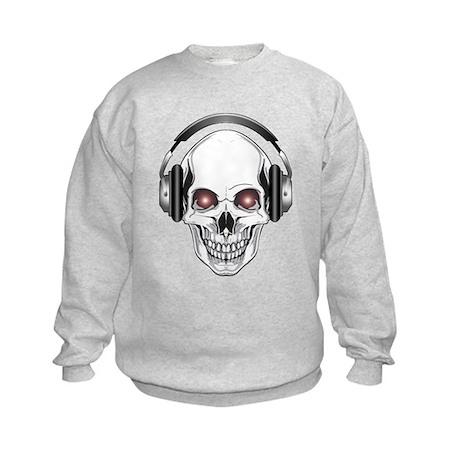 Red Eye DJ Skull Kids Sweatshirt