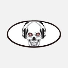 Red Eye DJ Skull Patches