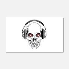 Red Eye DJ Skull Car Magnet 20 x 12