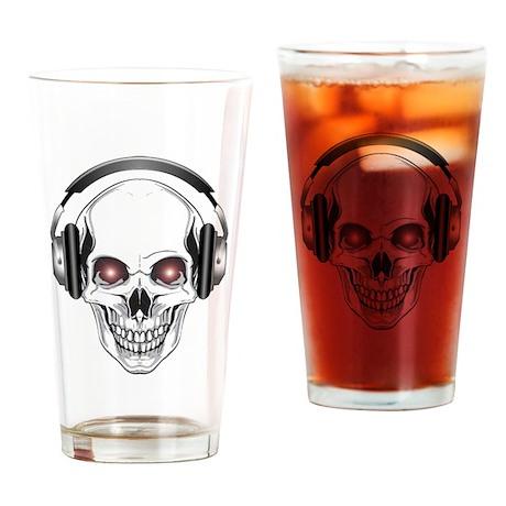 Red Eye DJ Skull Drinking Glass