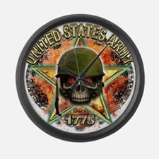US Army Skull Freedom 1775 Large Wall Clock