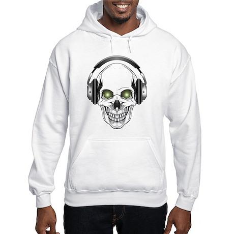 Green Eye DJ Skull Hooded Sweatshirt