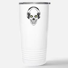 Green Eye DJ Skull Travel Mug