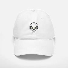 Green Eye DJ Skull Baseball Baseball Cap
