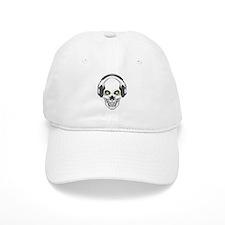 Green Eye DJ Skull Cap