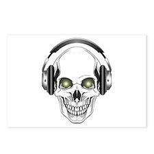 Green Eye DJ Skull Postcards (Package of 8)