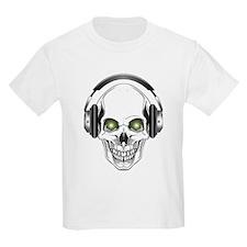 Green Eye DJ Skull T-Shirt