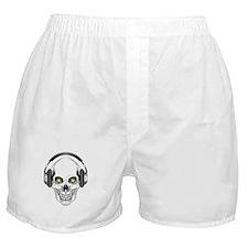 Green Eye DJ Skull Boxer Shorts