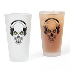 Green Eye DJ Skull Drinking Glass