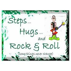 STEPS HUGS ROCKNROLL Poster