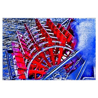 Steamboat Paddle Wheel Poster