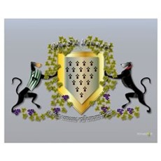 Greyhound Coat of Arms B (small) Poster