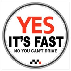 Yes It's Fast Poster