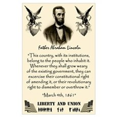 Liberty And Union. Poster