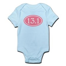 13.1 Pink Half Marathon Infant Bodysuit